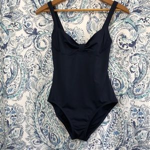 KATE SPADE Navy Georgica Beach Swimsuit